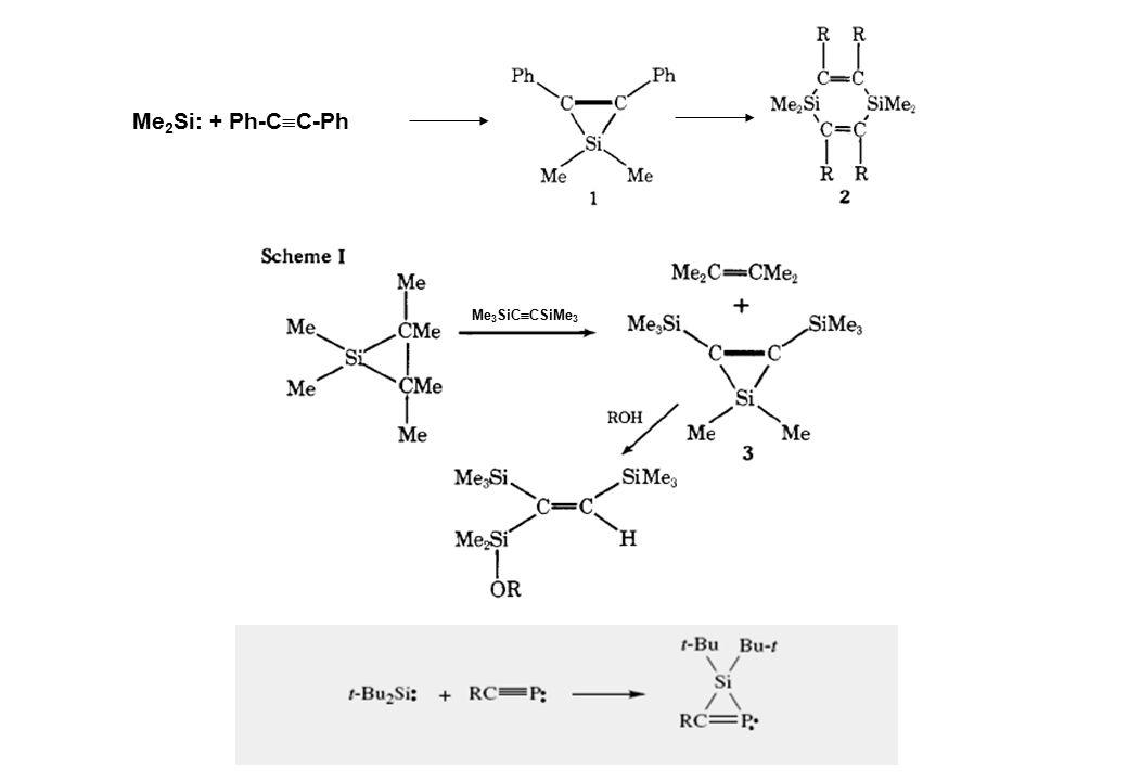 Me 2 Si: + Ph-C  C-Ph Me 3 SiC  CSiMe 3