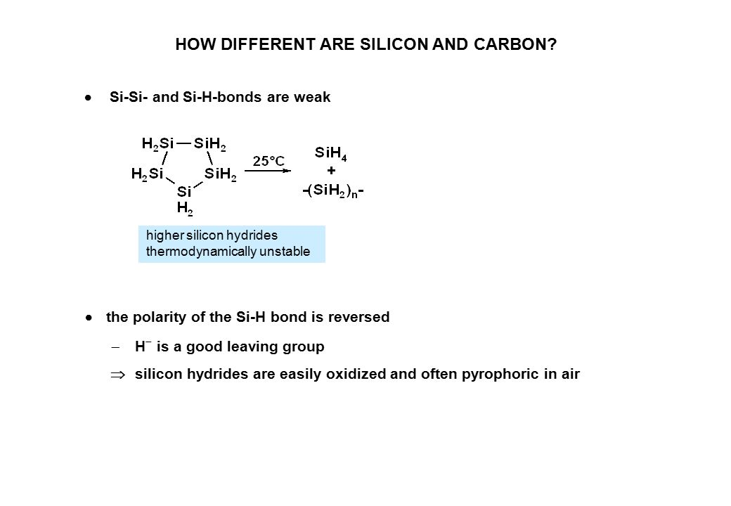 HOW DIFFERENT ARE SILICON AND CARBON.