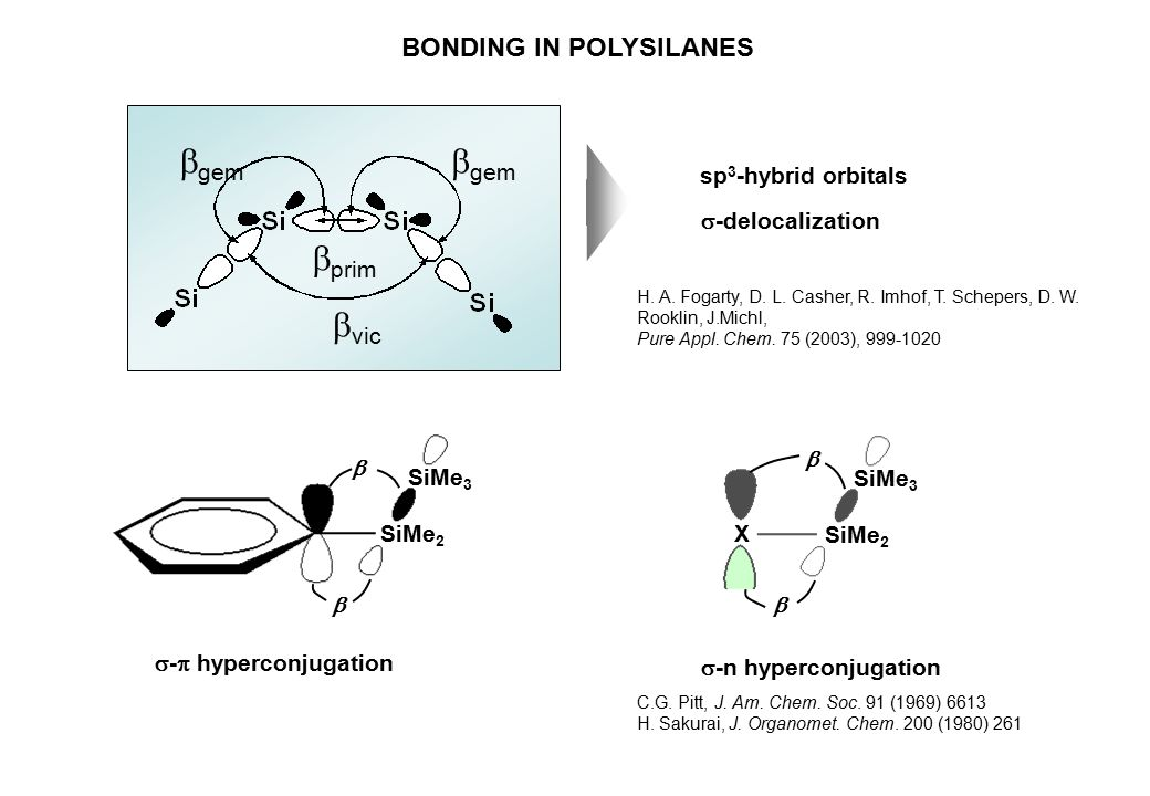 BONDING IN POLYSILANES H.A. Fogarty, D. L. Casher, R.