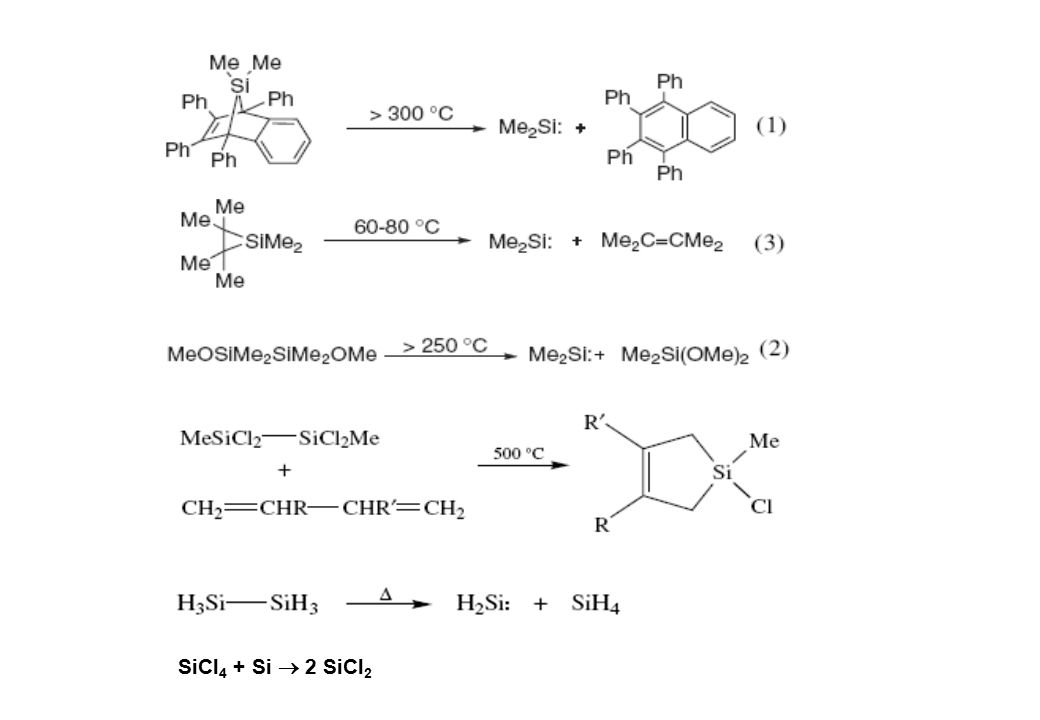 POLYSILANE SYNTHESIS (Si-Si-bond formation)  only applicable to the synthesis of organopolysilanes; very poor tolerance to functional groups  Salt elimination