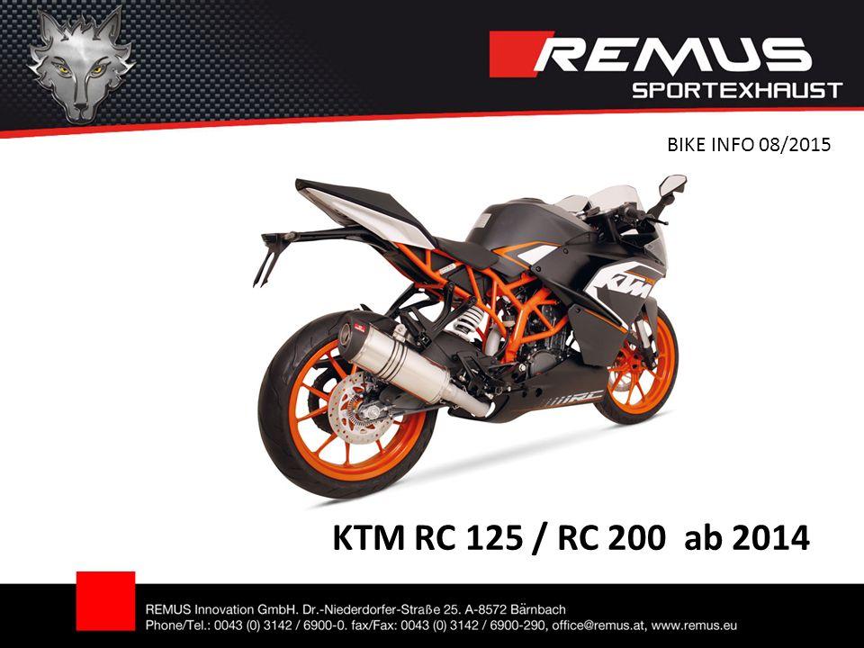 KTM RC 125 / RC 200 ab 2014 BIKE INFO 08/2015