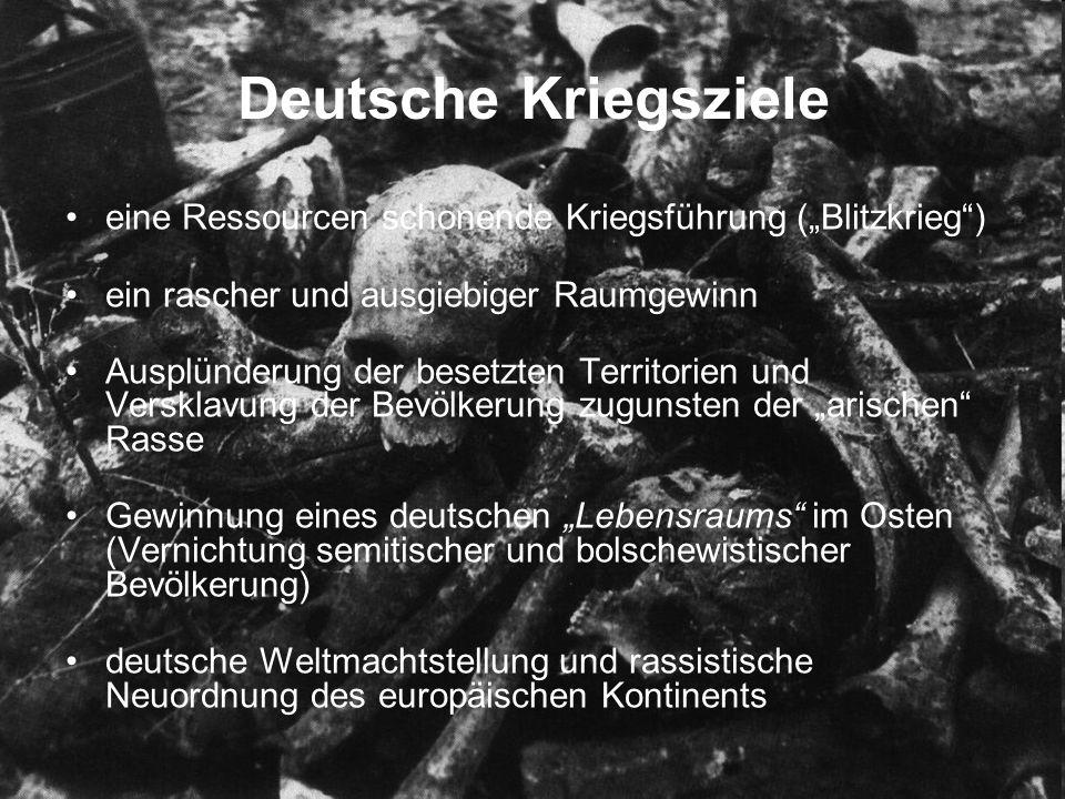 """KRIEGSVERLAUF Der deutsche Angriff auf Polen 1939 Stellungskrieg an der Westfront 1939 Der Westfeldzug 1940 Die """"Luftschlacht um England (1940/41) Der Überfall auf die Sowjetunion Kriegseintritt der USA 1941 Die Westfront 1944/45 Das Kriegsende in Europa 1945"""