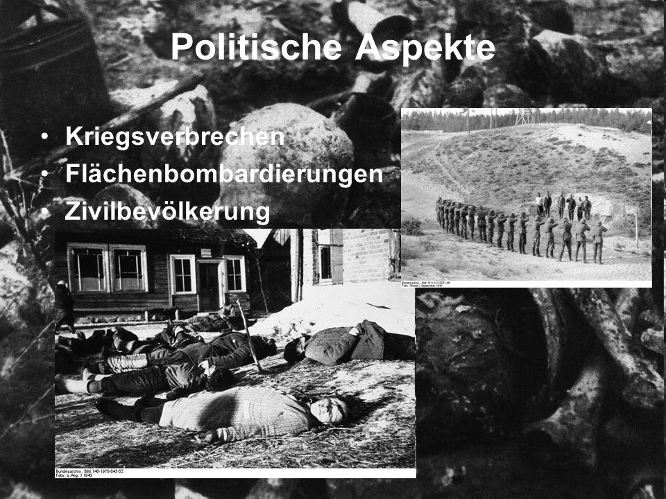 Politische Aspekte Kriegsverbrechen Flächenbombardierungen Zivilbevölkerung