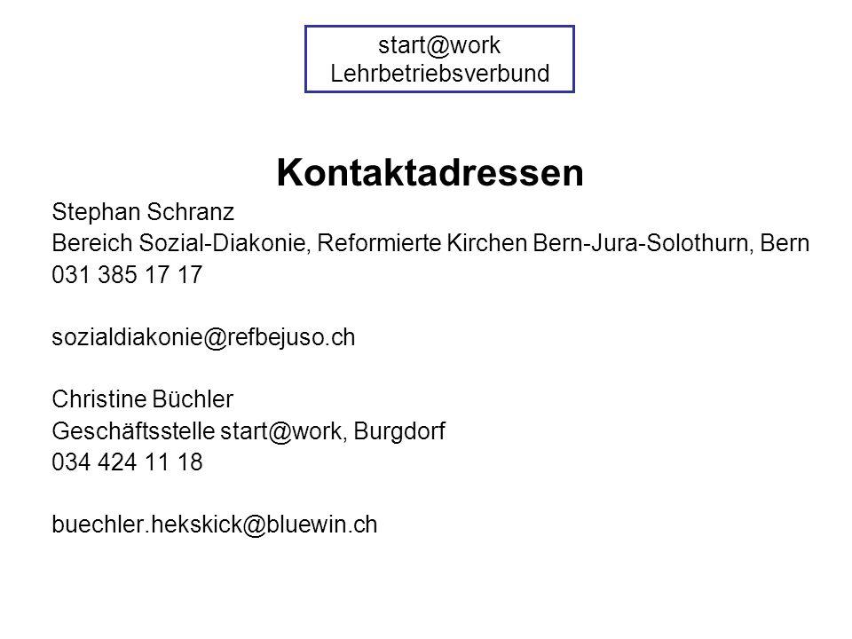 Kontaktadressen Stephan Schranz Bereich Sozial-Diakonie, Reformierte Kirchen Bern-Jura-Solothurn, Bern 031 385 17 17 sozialdiakonie@refbejuso.ch Chris
