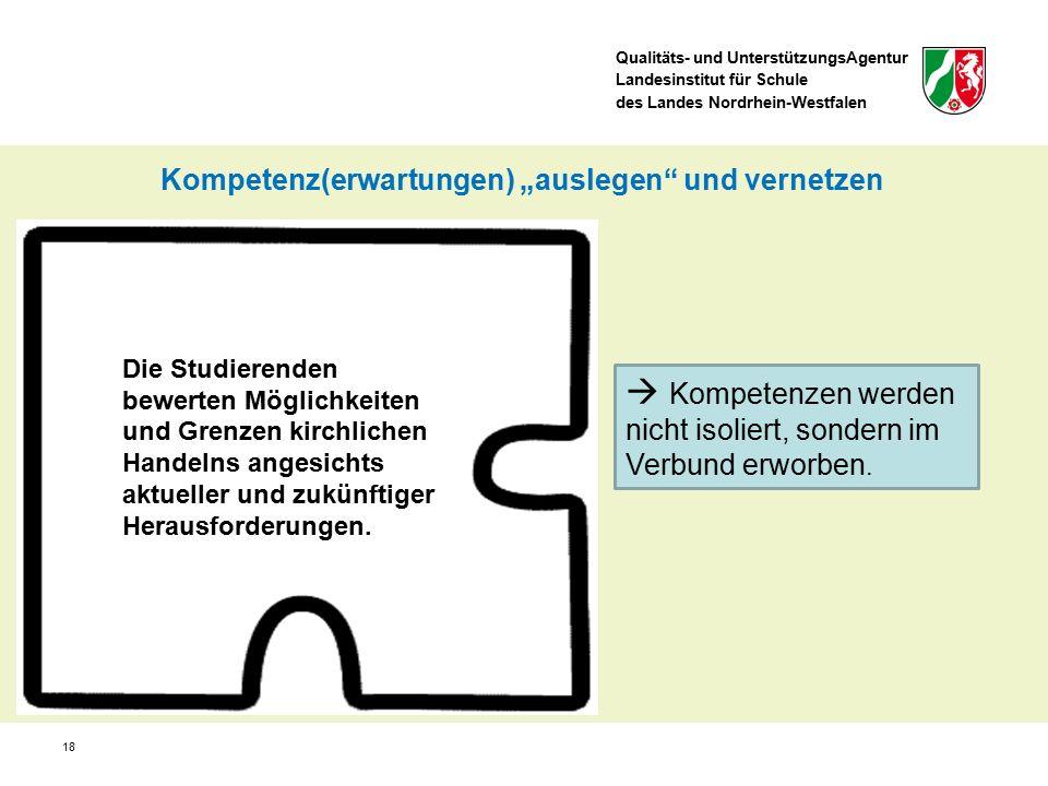 Qualitäts- und UnterstützungsAgentur Landesinstitut für Schule des Landes Nordrhein-Westfalen Die Studierenden bewerten Möglichkeiten und Grenzen kirchlichen Handelns angesichts aktueller und zukünftiger Herausforderungen.