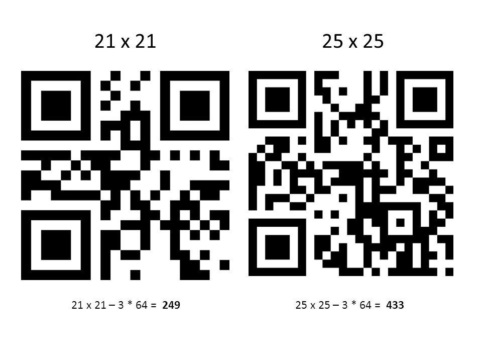 21 x 2125 x 25 21 x 21 – 3 * 64 = 24925 x 25 – 3 * 64 = 433