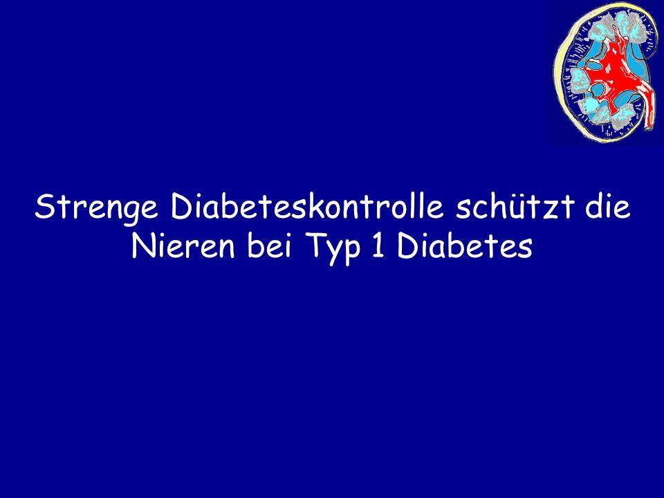Strenge Diabeteskontrolle schützt die Nieren bei Typ 1 Diabetes