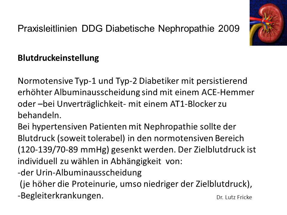 Praxisleitlinien DDG Diabetische Nephropathie 2009 Dr.