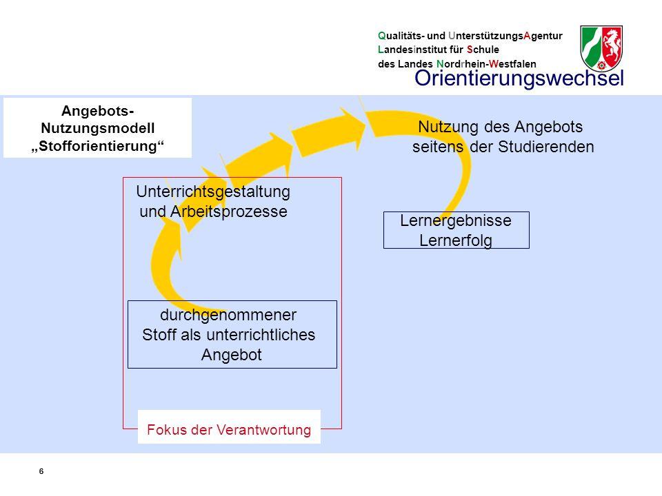 Qualitäts- und UnterstützungsAgentur Landesinstitut für Schule des Landes Nordrhein-Westfalen Inhalte… - Fragen als Kriterien der Auswahl (S.
