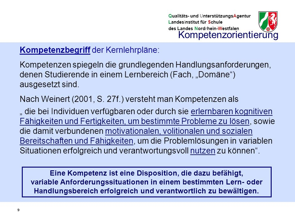 Qualitäts- und UnterstützungsAgentur Landesinstitut für Schule des Landes Nordrhein-Westfalen 30 KLP und Vorgaben Funktion von Abiturvorgaben Schaffung landesweit einheitlicher Bezüge für die zentral gestellten Abituraufgaben Vorgaben sind….