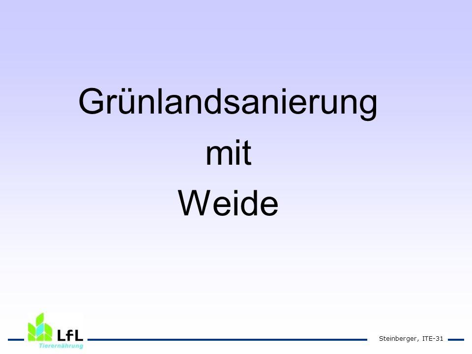 Grünlandsanierung mit Weide Steinberger, ITE-31