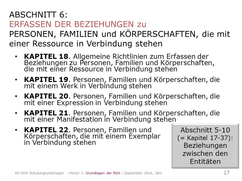 ABSCHNITT 6: ERFASSEN DER BEZIEHUNGEN zu PERSONEN, FAMILIEN und KÖRPERSCHAFTEN, die mit einer Ressource in Verbindung stehen KAPITEL 18. Allgemeine Ri