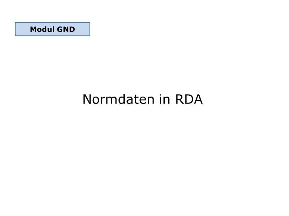 Normdaten in RDA