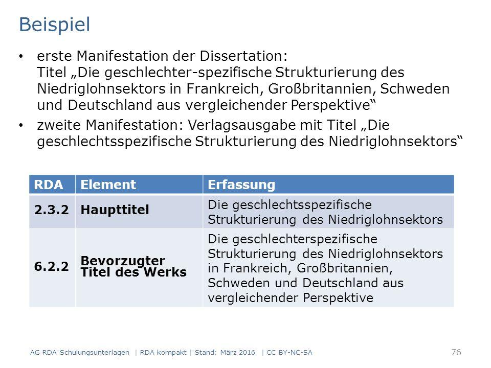 """Beispiel erste Manifestation der Dissertation: Titel """"Die geschlechter-spezifische Strukturierung des Niedriglohnsektors in Frankreich, Großbritannien"""