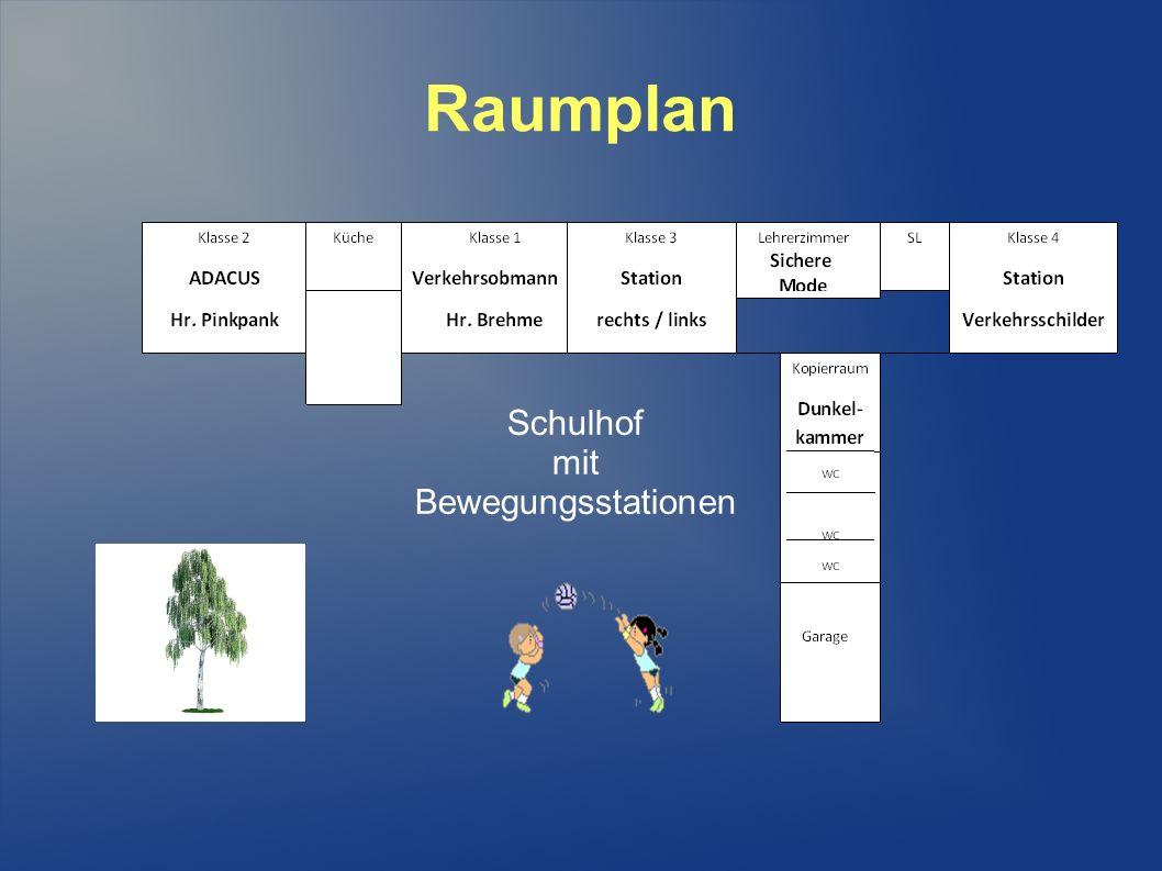 Schulhof mit Bewegungsstationen Raumplan