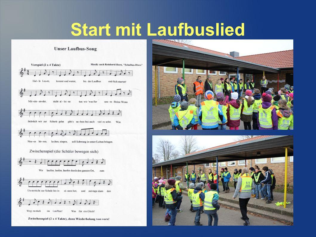 Start mit Laufbuslied