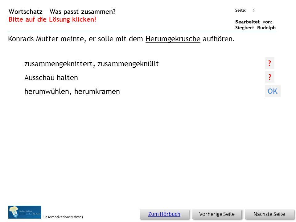 Übungsart: Seite: Bearbeitet von: Siegbert Rudolph Lesemotivationstraining 4 06 Unheimliche Geräusche – bitte klicken.