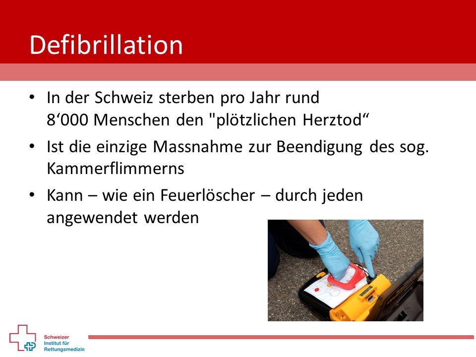 Defibrillation In der Schweiz sterben pro Jahr rund 8'000 Menschen den