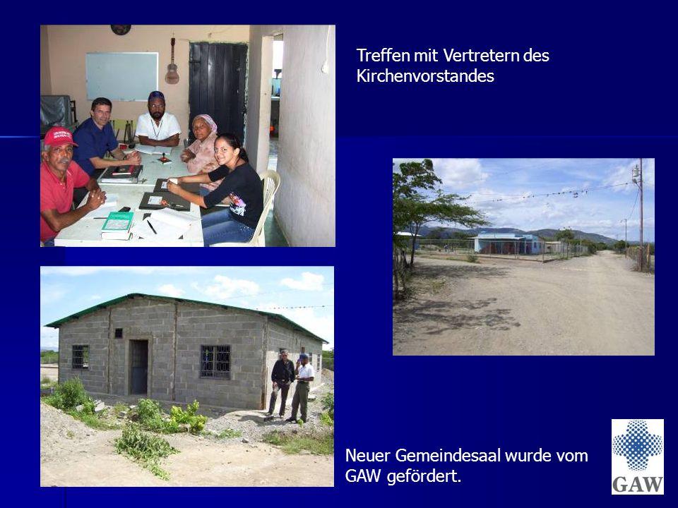 Neuer Gemeindesaal wurde vom GAW gefördert. Treffen mit Vertretern des Kirchenvorstandes
