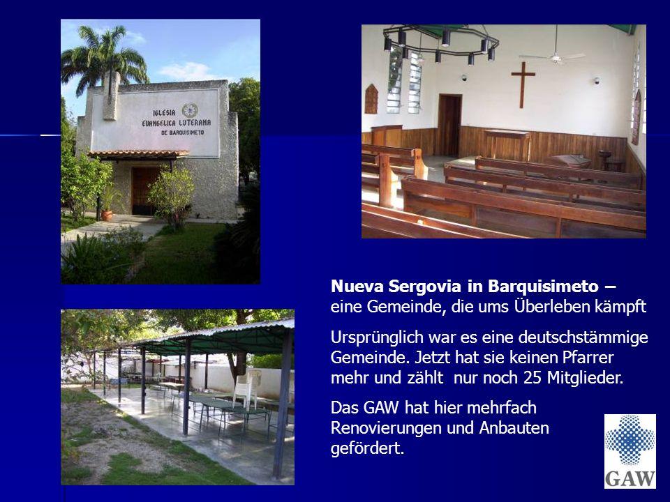 Nueva Sergovia in Barquisimeto – eine Gemeinde, die ums Überleben kämpft Ursprünglich war es eine deutschstämmige Gemeinde.