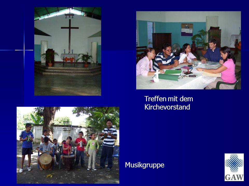 Treffen mit dem Kirchevorstand Musikgruppe