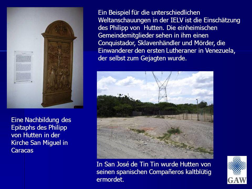 Ein Beispiel für die unterschiedlichen Weltanschauungen in der IELV ist die Einschätzung des Philipp von Hutten.