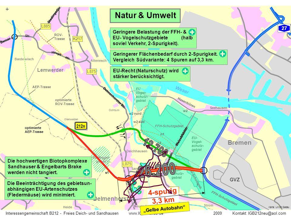 Rastvogel- gebiet Weissfeldstr. FFH-Schutzgebiet EU- Vogel- schutz- gebiet FFH-Schutzgeb. Weser Ochtum K217 Seehausen Hasenbüren L877 Interessengemein