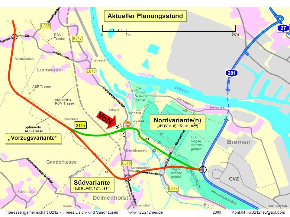 74 Lemwerder Verkehrsnetz Großraum Delmenhorst - Bremen 0 1km 5km Interessengemeinschaft B212 - Freies Deich- und Sandhausen www.IGB212neu.de 2009 Kontakt: IGB212neu@aol.com 75 27 1 212 BREMEN GVZ 28 Delmenhorst Stromer Landstr.