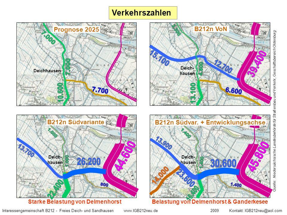 Quelle: Niedersächsische Landesbehörde für Straßenbau und Verkehr, Geschäftsbereich Oldenburg Interessengemeinschaft B212 - Freies Deich- und Sandhaus