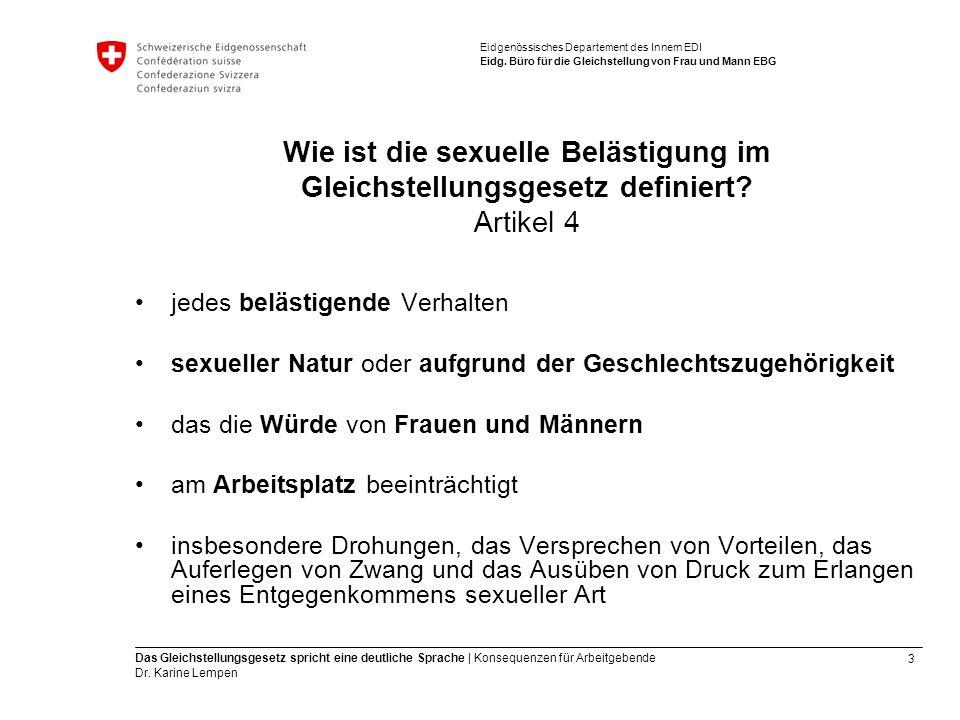 3 Das Gleichstellungsgesetz spricht eine deutliche Sprache | Konsequenzen für Arbeitgebende Dr.