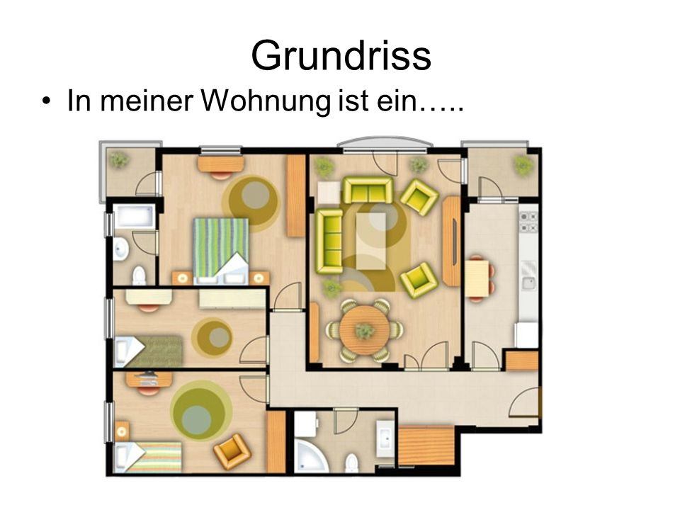 Grundriss In meiner Wohnung ist ein…..