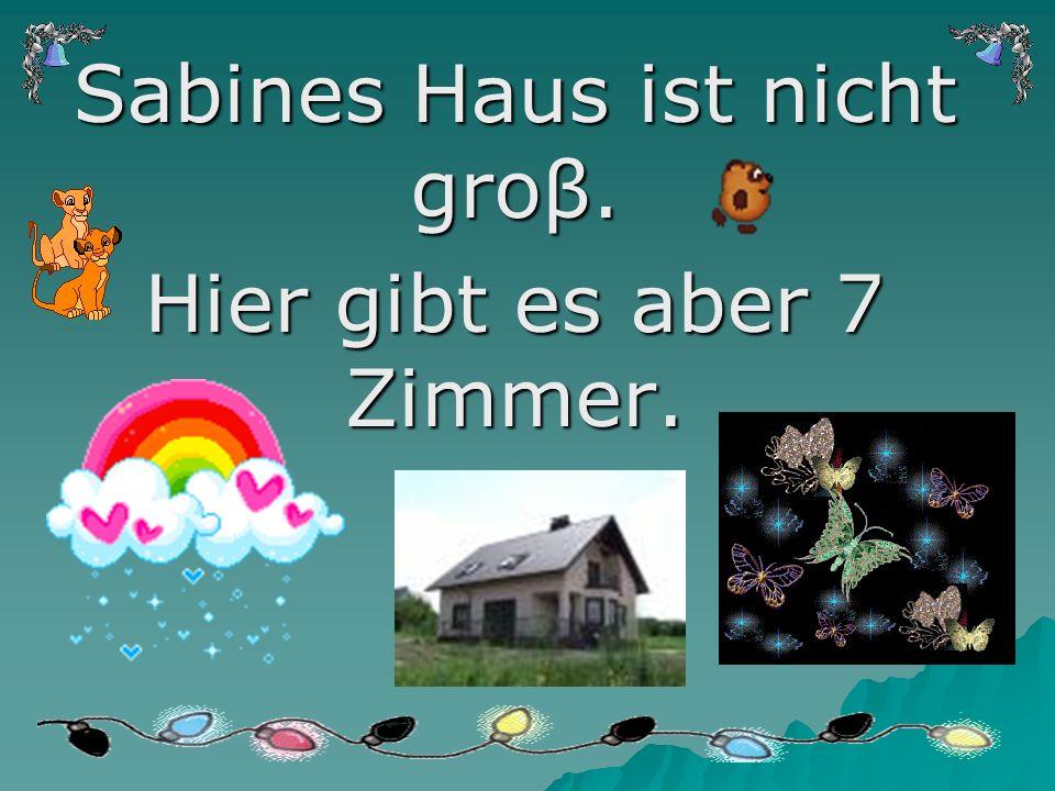 Sabines Haus ist nicht groβ. Hier gibt es aber 7 Zimmer.
