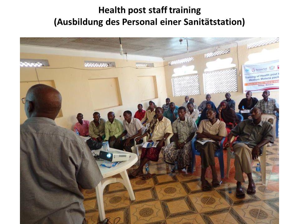 Health post staff training (Ausbildung des Personal einer Sanitätstation)