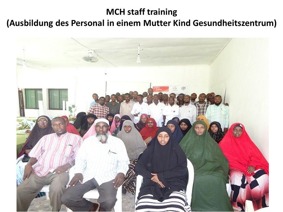 MCH staff training (Ausbildung des Personal in einem Mutter Kind Gesundheitszentrum)