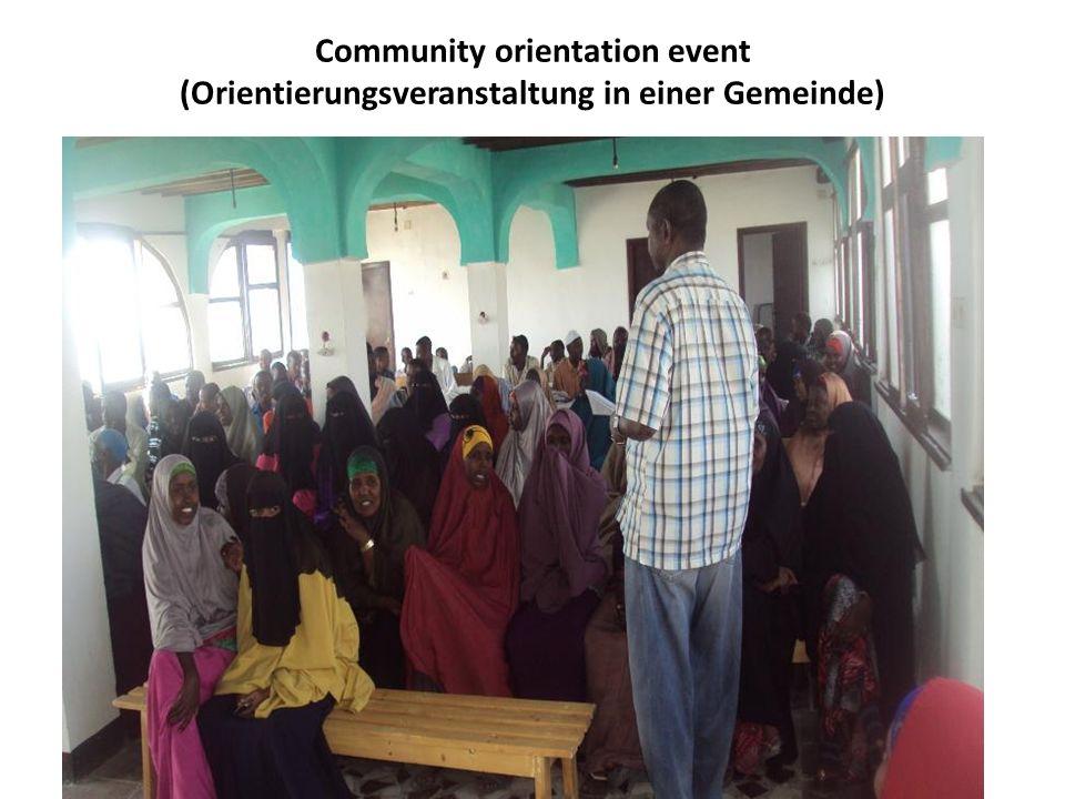 Community orientation event (Orientierungsveranstaltung in einer Gemeinde)