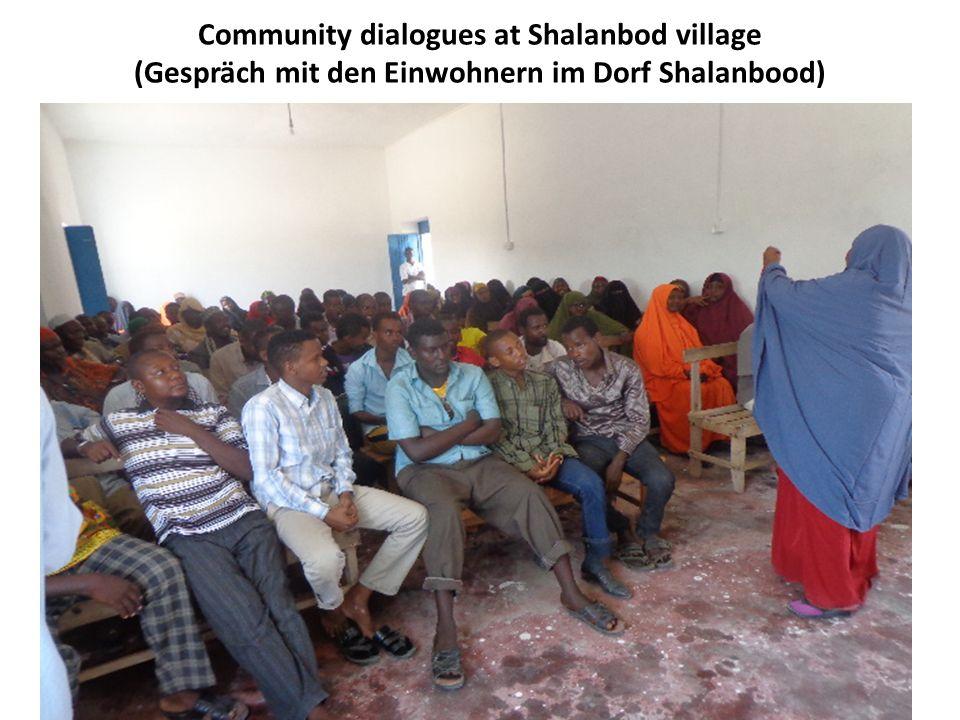 Community dialogues at Shalanbod village (Gespräch mit den Einwohnern im Dorf Shalanbood)