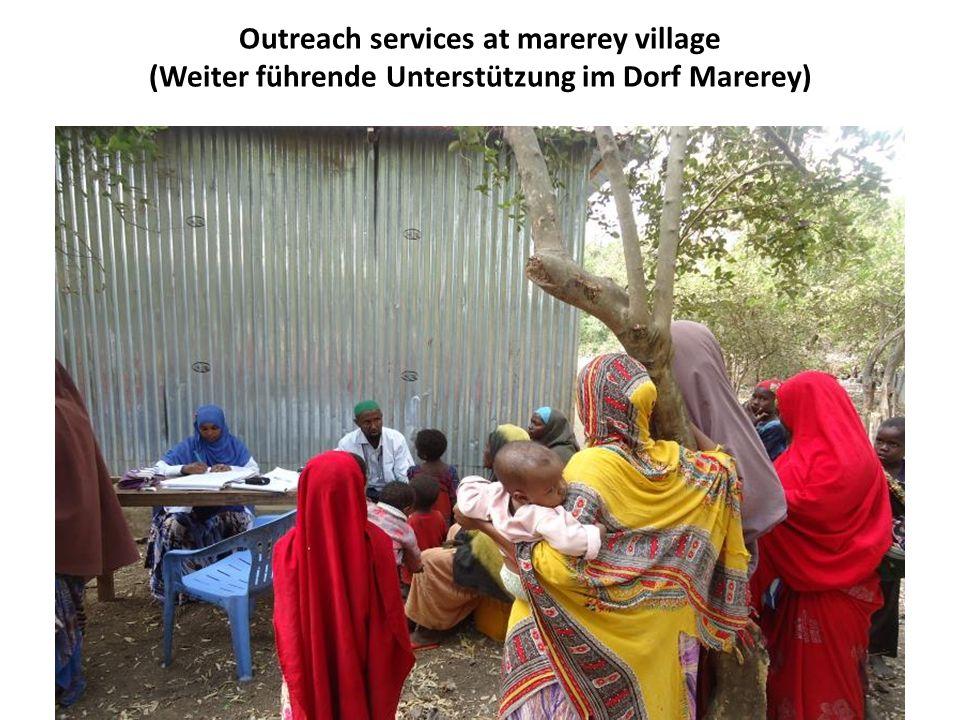 Outreach services at marerey village (Weiter führende Unterstützung im Dorf Marerey)