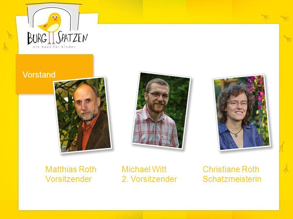 Matthias Roth Vorsitzender Vorstand Michael Witt 2. Vorsitzender Christiane Roth Schatzmeisterin