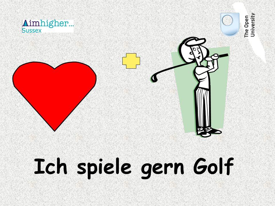 Ich spiele gern Golf