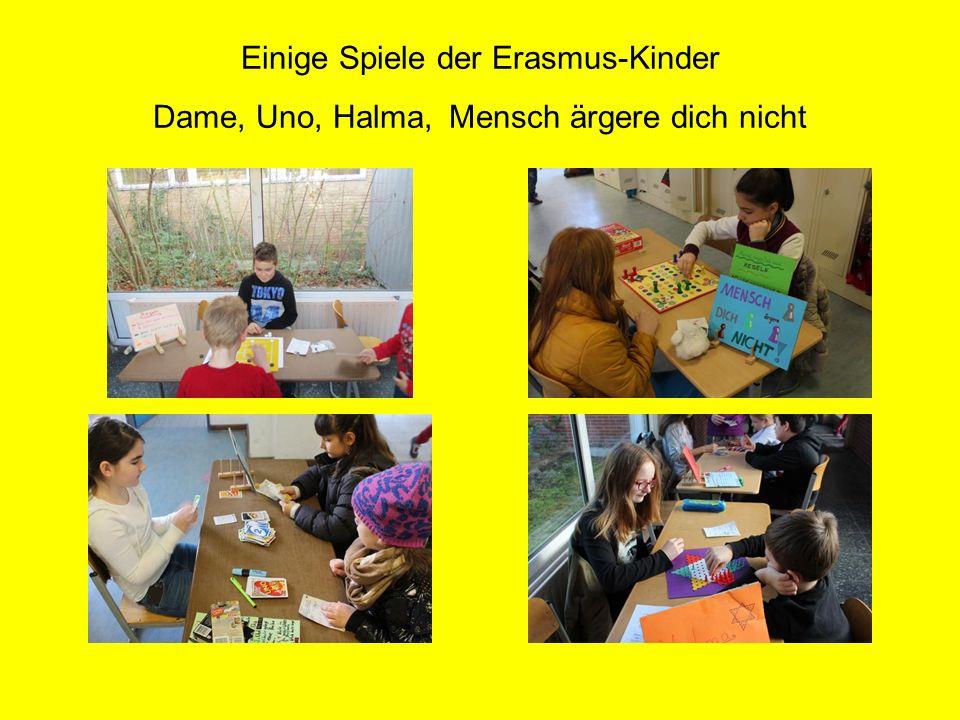 Einige Spiele der Erasmus-Kinder Dame, Uno, Halma, Mensch ärgere dich nicht