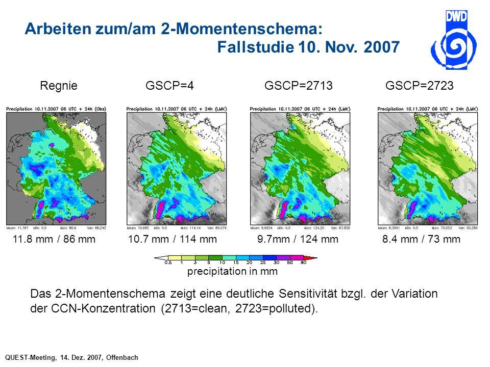 QUEST-Meeting, 14. Dez. 2007, Offenbach Arbeiten zum/am 2-Momentenschema: Fallstudie 10.
