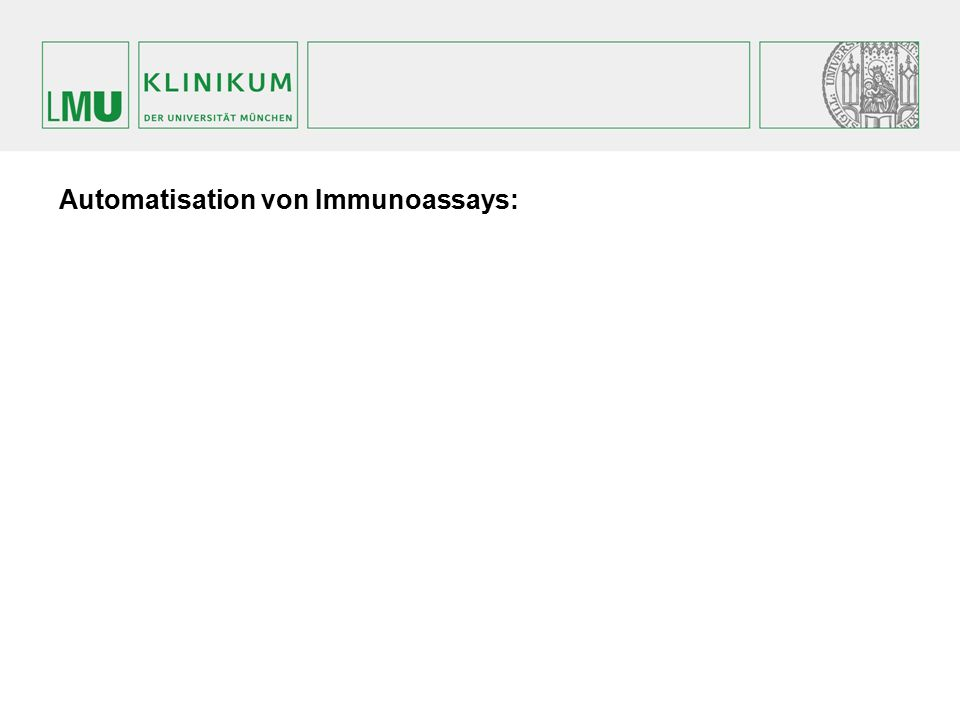 Automatisation von Immunoassays: