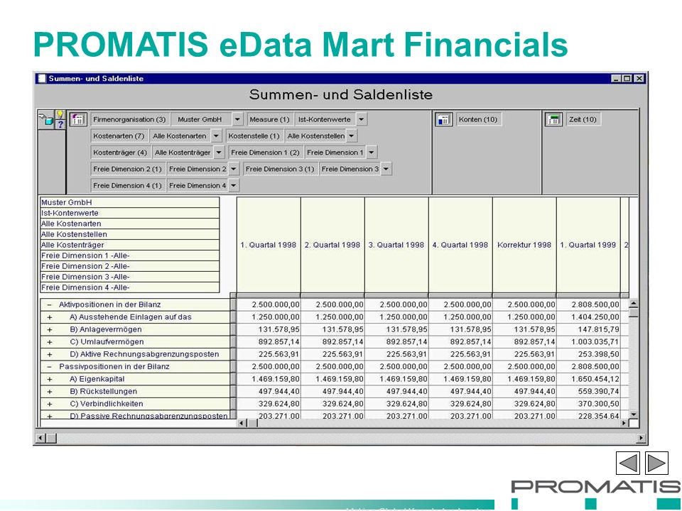 Making Global Knowledge Leaders PROMATIS eData Mart Financials
