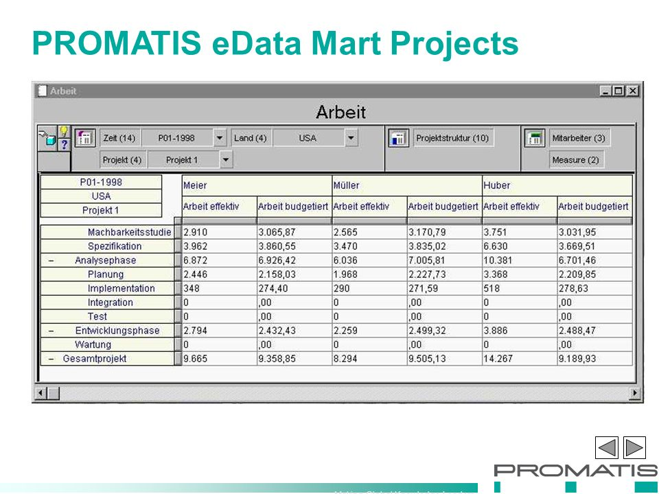 Making Global Knowledge Leaders PROMATIS eData Mart Projects