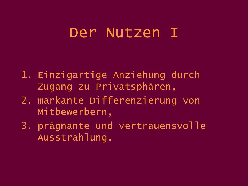 Der Nutzen II 4.