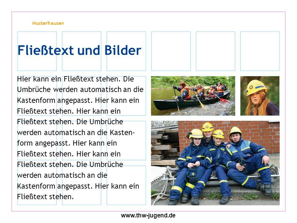 Musterhausen www.thw-jugend.de Spalte 1Spalte 2Spalte 3Spalte 4 xxxxx Tabelle