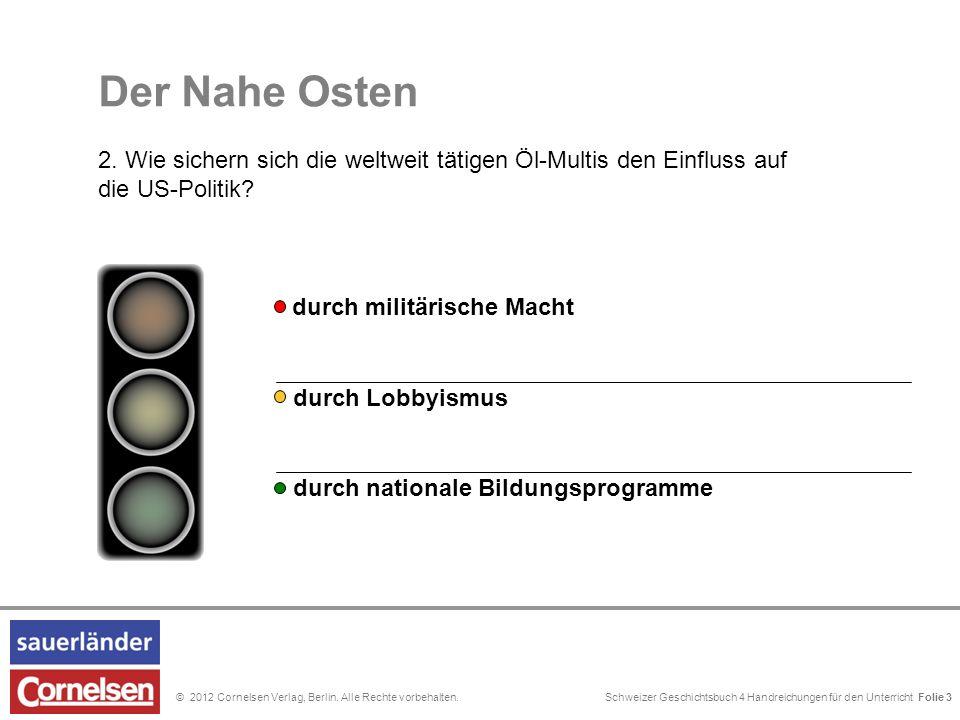 Schweizer Geschichtsbuch 4 Handreichungen für den Unterricht Folie 0© 2012 Cornelsen Verlag, Berlin. Alle Rechte vorbehalten. durch Lobbyismus durch n
