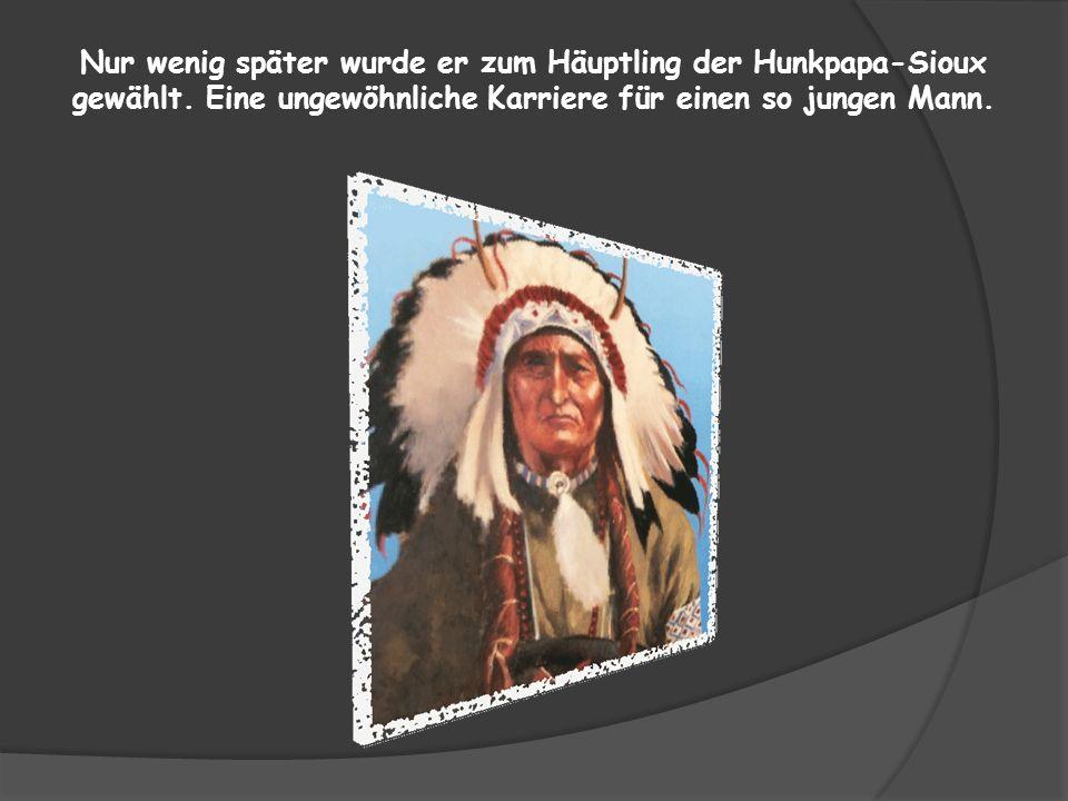 Sitting Bull wurde nach dem Tod seines Vaters von seinem Onkel aufgezogen. Bei diesem Weisen lernte er die Kunst des Kampfs, der Medizin und der Deutu