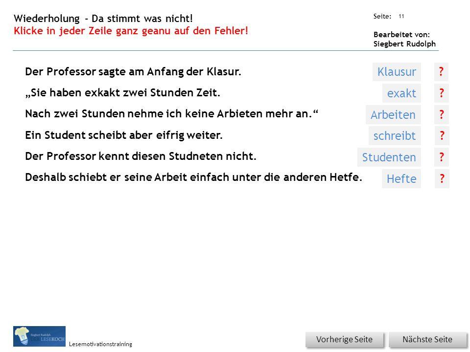 Übungsart: Seite: Bearbeitet von: Siegbert Rudolph Lesemotivationstraining Titel: Quelle: Wörterschlange.