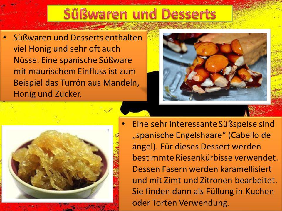 """Eine sehr interessante Süßspeise sind """"spanische Engelshaare"""" (Cabello de ángel). Für dieses Dessert werden bestimmte Riesenkürbisse verwendet. Dessen"""